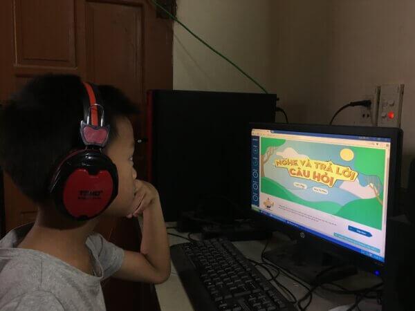 Bé Khánh Toàn tiến bộ sau 1 khóa học tiếng Anh