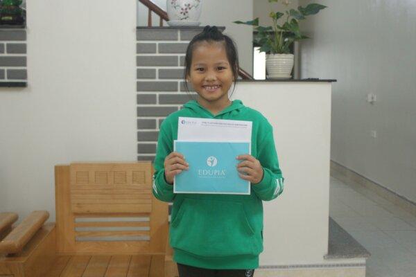 Bé Nguyễn Hồng Châu và ước mơ du học
